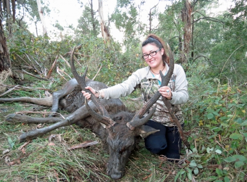Cassie McGee & Levi Winwood - Sambar Deer Success Story