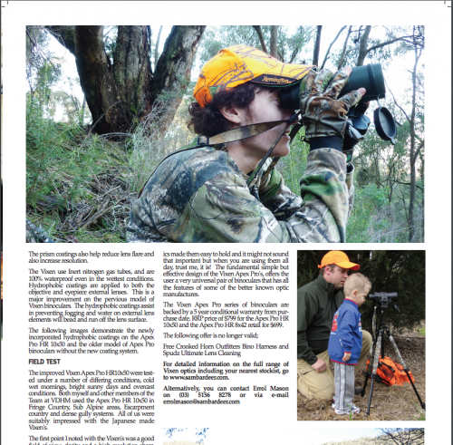 Victorian Deer Hunter Magazine - Sambar Deer Success Story